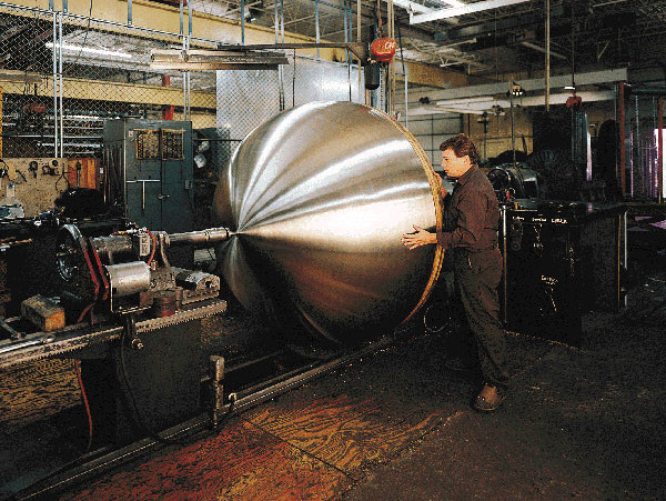 Spin Forming Metal Dome