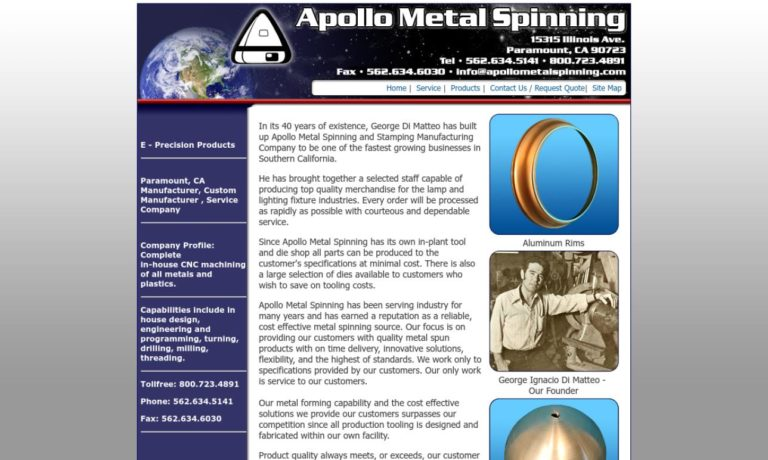 Apollo Metal Spinning Co., Inc.