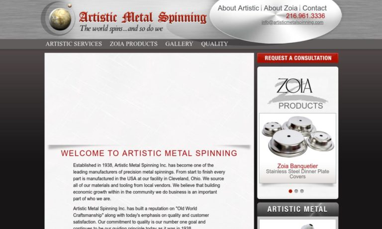 Artistic Metal Spinning Inc.