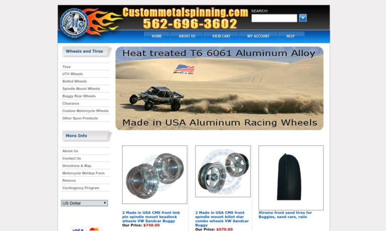 Custom Metal Spinning, Inc.
