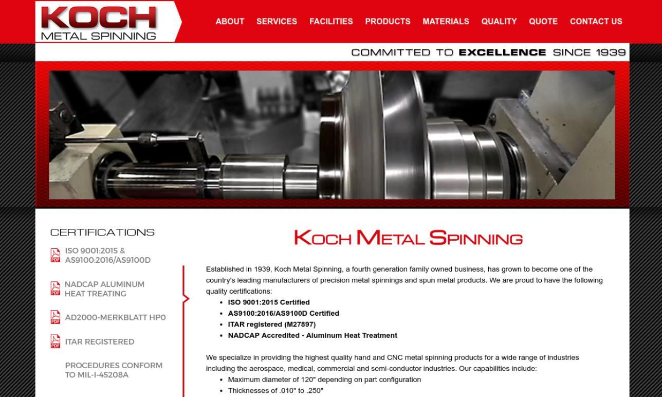Koch Metal Spinning