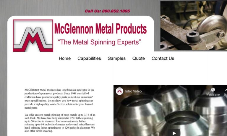 McGlennon Metal Products, Inc.