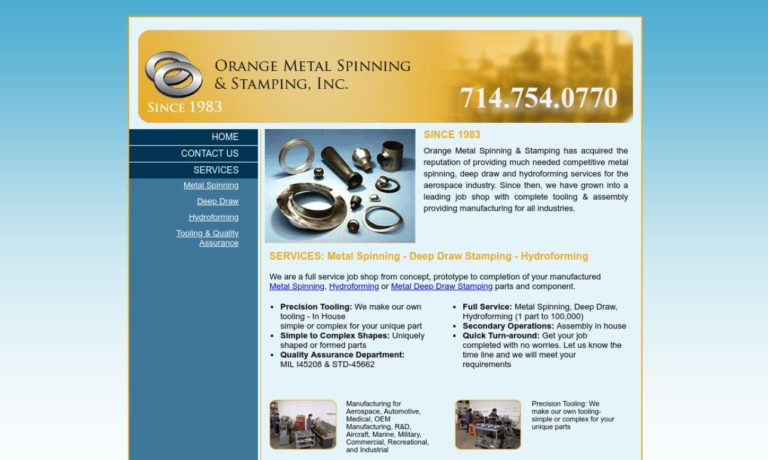 Orange Metal Spinning & Stamping, Inc.