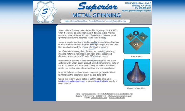 Superior Metal Spinning