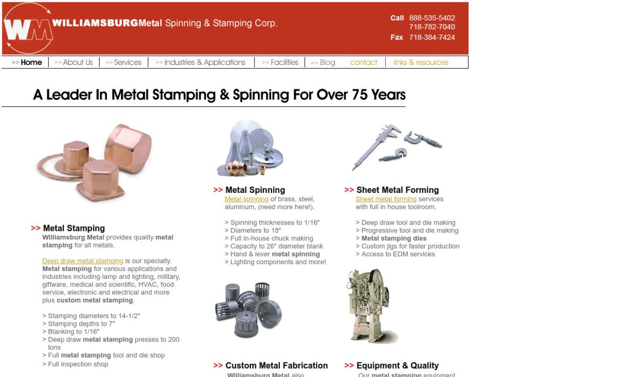 Williamsburg Metal Spinning & Stamping Corp.