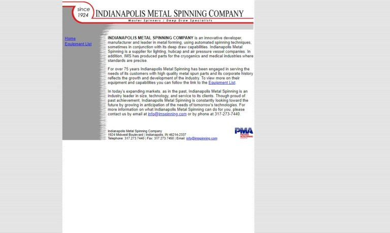 Indianapolis Metal Spinning Company